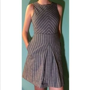 J. Crew Chevron-Striped Sleeveless Sundress